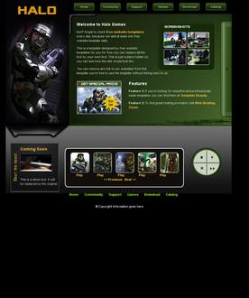 Halo website template