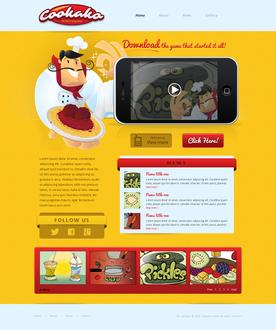 iPhone Game Website Template