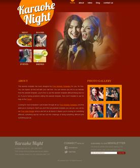 Karaoke Website Template