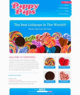 Lollipops Website Template