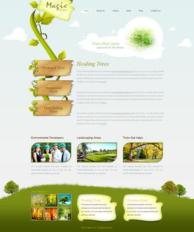 Magic Tree Website Template