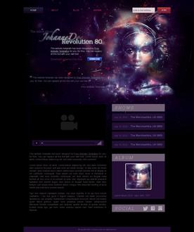 Music Artist Web Template