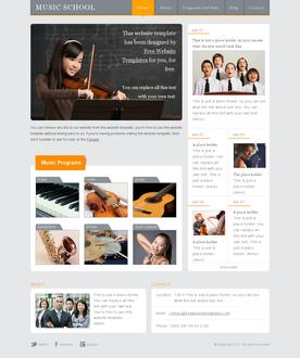 Music School Website Template
