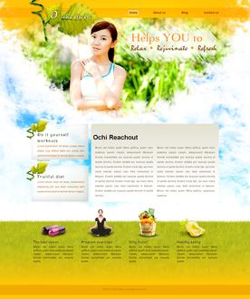 Natural Health Web Template