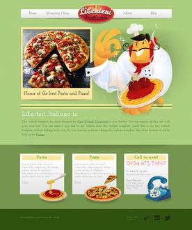 Pizza and Pasta Web Template