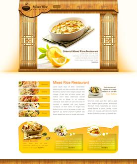 Rice Restaurant Web Template
