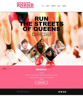 Running Website Template