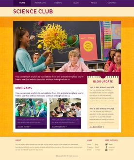 Science Club Web Template
