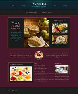 Snacks Website Template