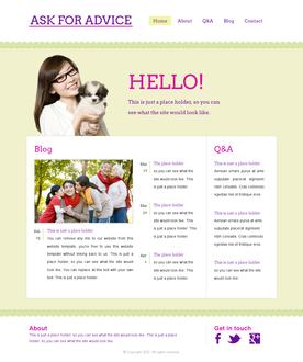 Social Advice Website Template