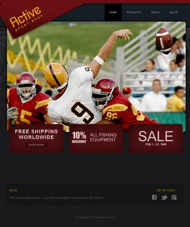 Sporting Goods Web Template