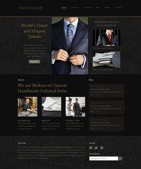 Tailor Shop Website Template