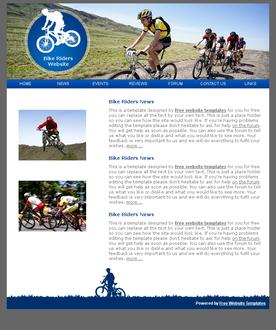 Bike riders template