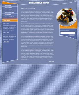 Snowmobile web template