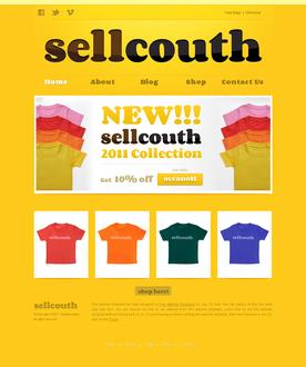 T-shirt Website Template